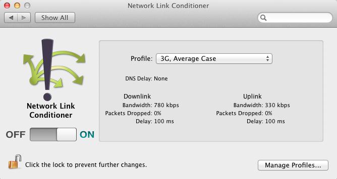 network throttling profiles